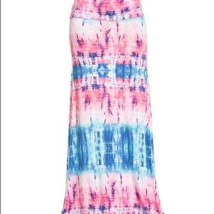 Dresses & Skirts - Pink and blue maxi skirt